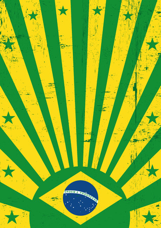 A vintage brazilian poster with a texture