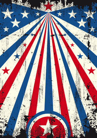 A vintage USA poster with a texture for your publicity Vector