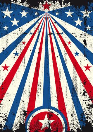 president???s: Un poster d'epoca USA con una texture per la vostra pubblicit�