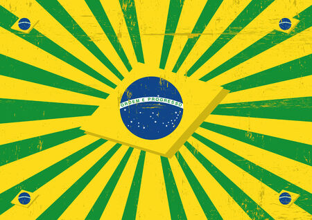 A vintage brazilian poster with sunbeams for you Vector