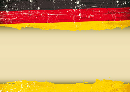 A German flag with a large frame for your message  Ideal to use for a screen Vector
