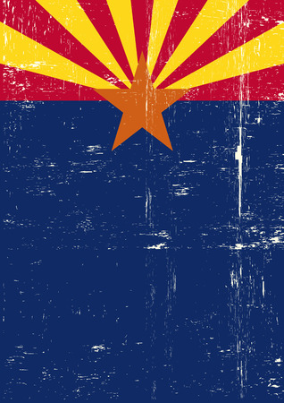 A grunge vertical flag of arizona for your publicity  Vector