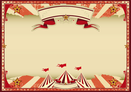 A red vintage circus background for a poster Illustration