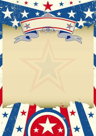 president???s: Un poster d'epoca Stati Uniti d'America con una texture per la vostra pubblicit� Vettoriali