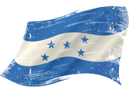 spanish culture: A grunge flag of honduras Illustration
