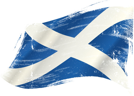 scots: A scottish flag in the wind with a texture