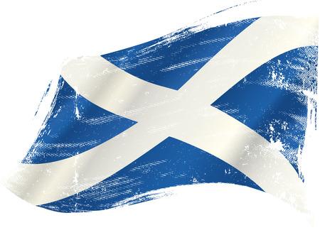 Een Schotse vlag in de wind met een textuur Stock Illustratie