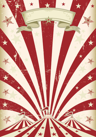A vintage circus  background with red  sunbeams Vector