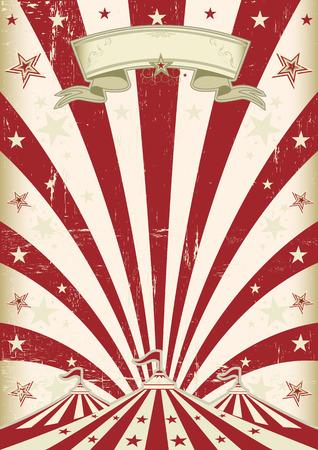fondo de circo: Un circo de fondo de la vendimia con los rayos de sol de color rojo