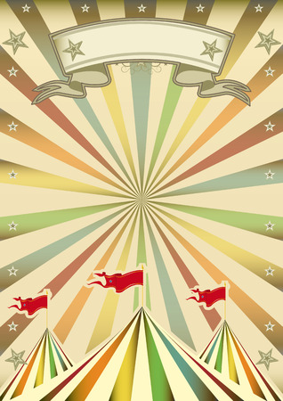 A multicolor circus background with sunbeams Vector