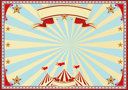 Horizontal circus background for a poster