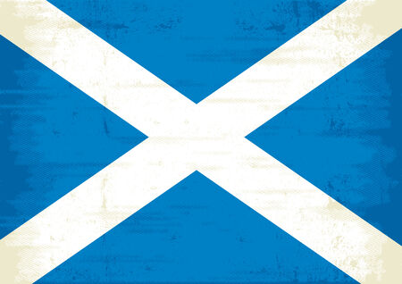 bad condition: A grunge scottish flag Illustration