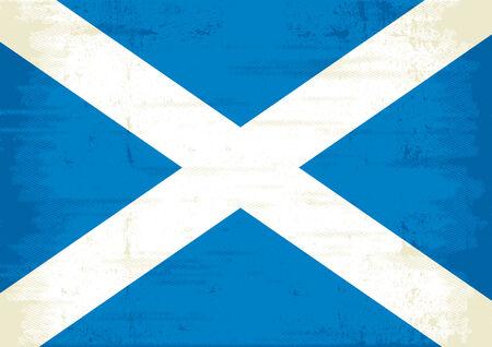 scottish flag: A grunge scottish flag Illustration