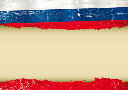 russian flag: A russian flag with a large frame