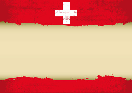 swiss flag: A swiss flag with a large frame for your message  Ideal to use for a screen