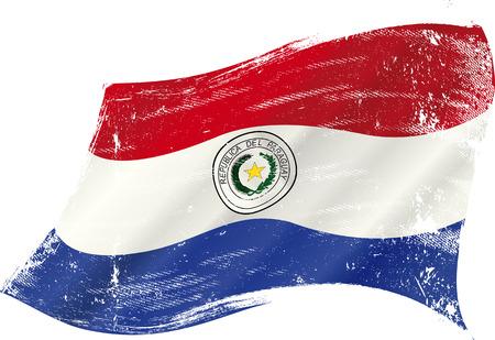 bandera de paraguay: Una bandera del grunge de Paraguay Vectores