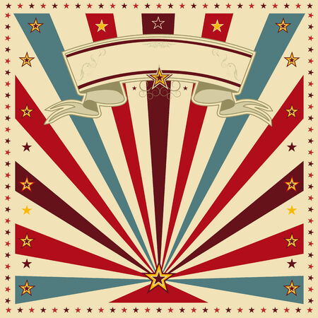 festivities: A square background with sunbeams for a vintage invitation Illustration