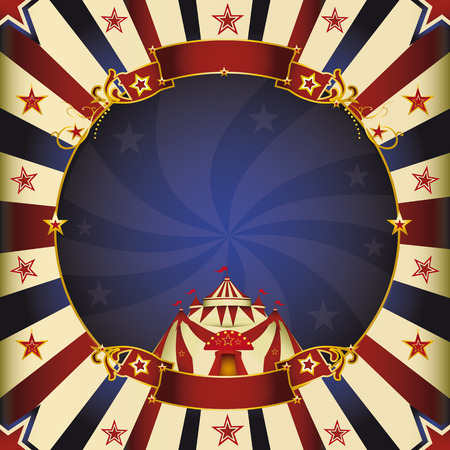 a square circus vintage poster for your advertising  Perfect size for a screen  Vector