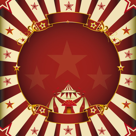 a circus square vintage poster for your advertising  Vector