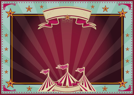 Horizontal circus background for a poster  Ideal for your publicity Vector
