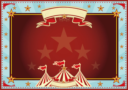 tent vector: Horizontal circus background for a poster  Ideal for your publicity