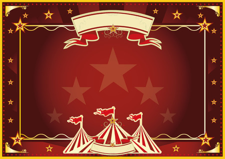 big top: Horizontal circus background for a poster  Ideal for your publicity