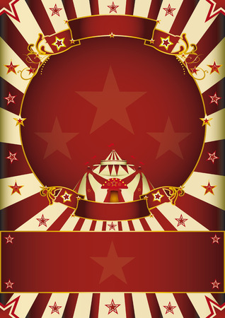 big top: a circus poster with a circle frame for your advertising