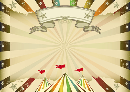 A horizontal multicolor circus background with sunbeams for you  ideal display for a screen or a pad Vector