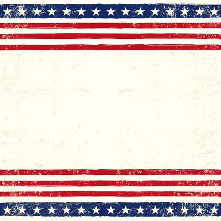 us flag grunge: An american square background for a greeting card