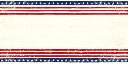 An american postcard for you with a large empty space for your text Vector