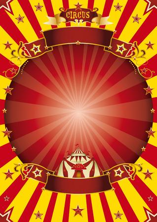 een circus vintage poster met een cirkel omlijsting voor uw reclame Stock Illustratie