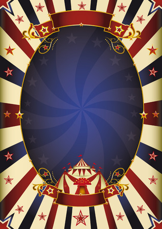tent vector: a circus vintage poster for your advertising