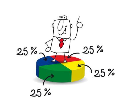 Joe, de zakenman, is een statisticus Stockfoto - 29653328