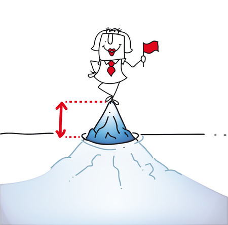 punta: Karen � sulla punta di un iceberg E Vettoriali