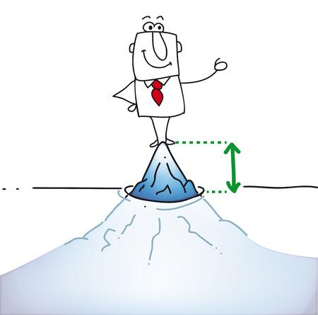 Joe is on tip of the iceberg  It Vector