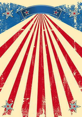 festivities: A vintage fifties background for a patriotic poster