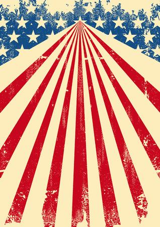 Um poster americano do vintage com uma textura