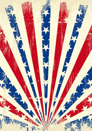 american poster: Un cartel de American Vintage con una textura