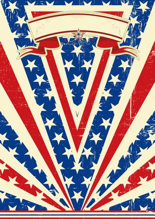 american poster: Un cartel de American Vintage con una textura para usted