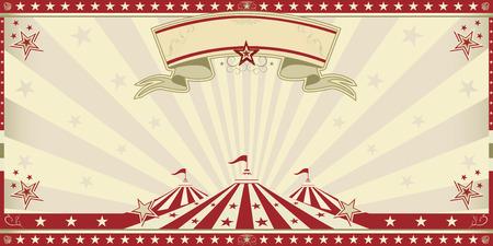 Circus invitation with sunbeams  A retro invitation card for your circus company