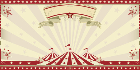 Circus invitation with sunbeams  A retro invitation card for your circus company