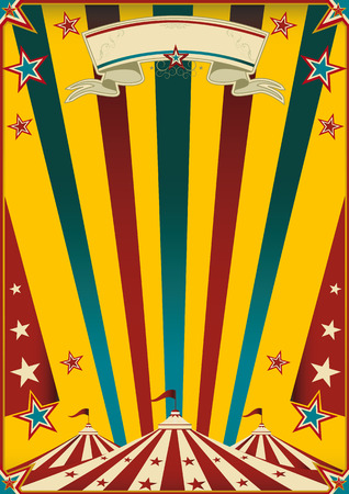 a multicolor circus poster for your advertising  Vector