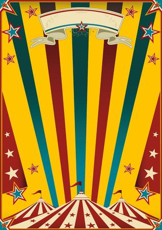 cabaret stage: un cartel de circo multicolor para su publicidad