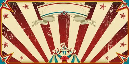 Circus invitation with sunbeams  A retro invitation card for your circus company  Vector