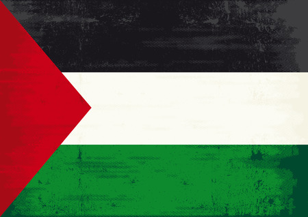 nablus: A Palestinian flag with a texture for you Illustration