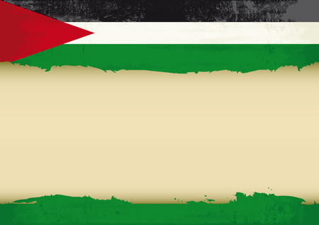 palestinian: A palestinian flag with a large frame for your message  Ideal to use for a screen Illustration