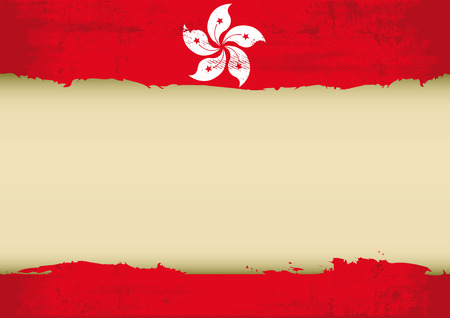 A Honk Kong flag with a large frame for your message  Ideal to use for a screen