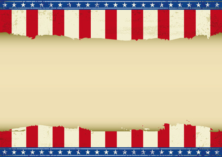 An horizontal american poster with a empty space for your message  Perfect size for your screen, your  touch-pad     Vector