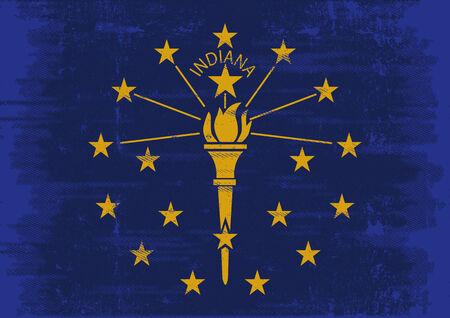 la union hace la fuerza: Una bandera de Indiana con un gran marco para su mensaje Ideal para usar en una pantalla Vectores