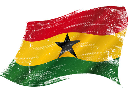 tissues: A grunge flag of Ghana in the wind flag for you